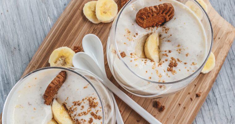 Bananenmousse met speculaas