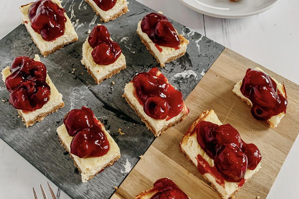 Verantwoorde kersen cheesecake