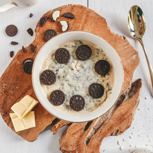 Witte Magnum overnight oats