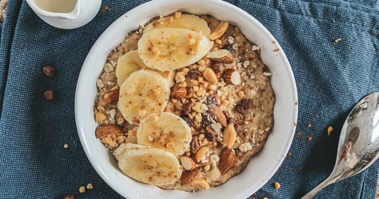 Chuncky monkey banana bread bowl