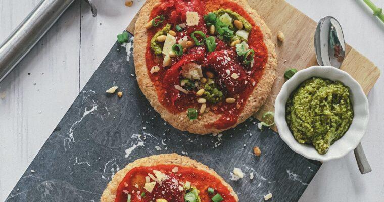 Volkoren pita pizza met carpaccio