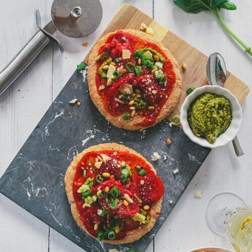 Volkoren pita pizza carpaccio